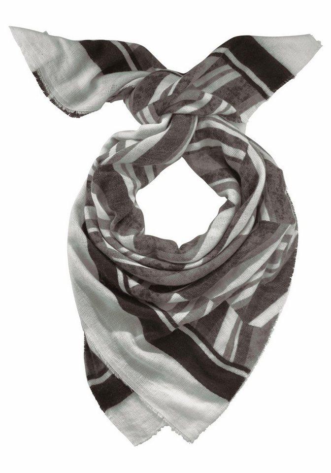 J. Jayz Modetuch im Streifen-Design in grau-weiß