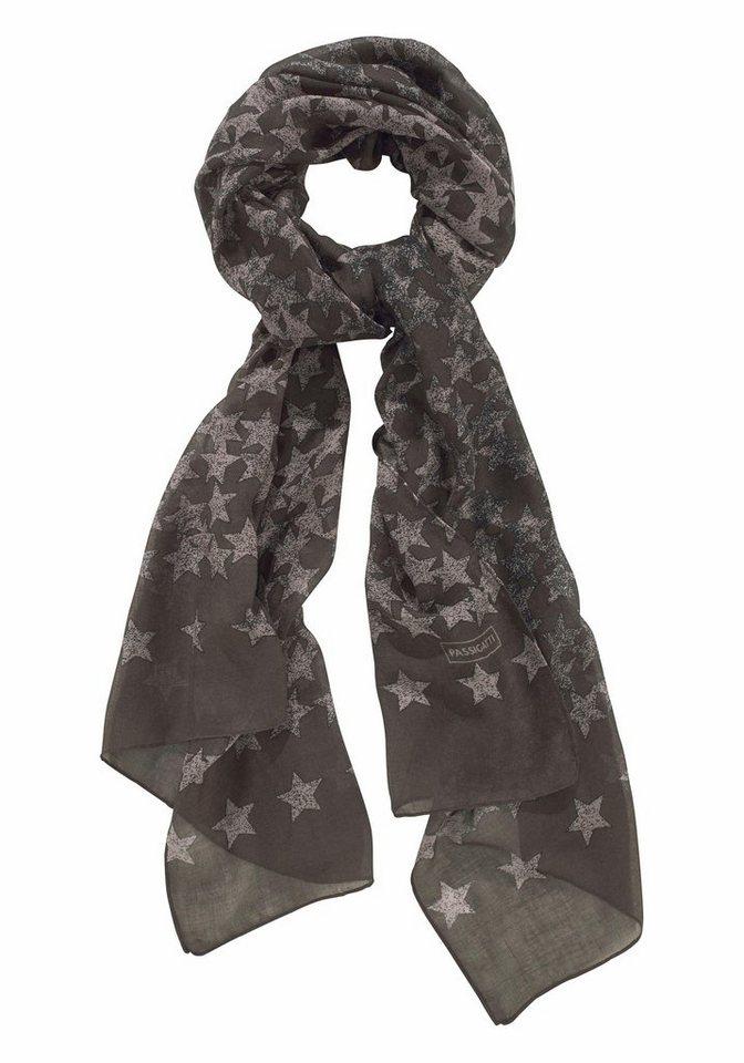 Passigatti Modeschal mit Sternen in khaki