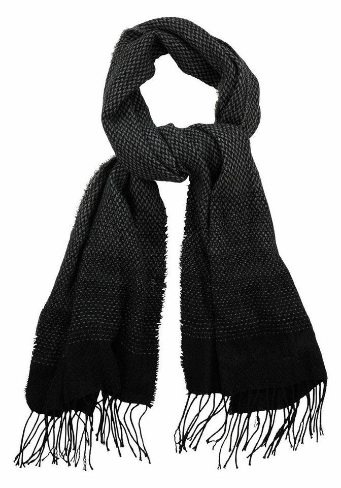J. Jayz Modeschal mit klassischem Muster in schwarz-grau