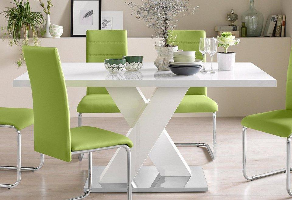 sulen esstisch wei hochglanz cool sulen esstisch wei. Black Bedroom Furniture Sets. Home Design Ideas