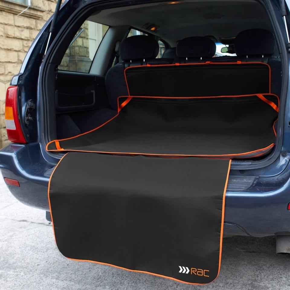Automatte »RAC Kofferraummatte mit Stoßstangenschutz« in dunkelgrau