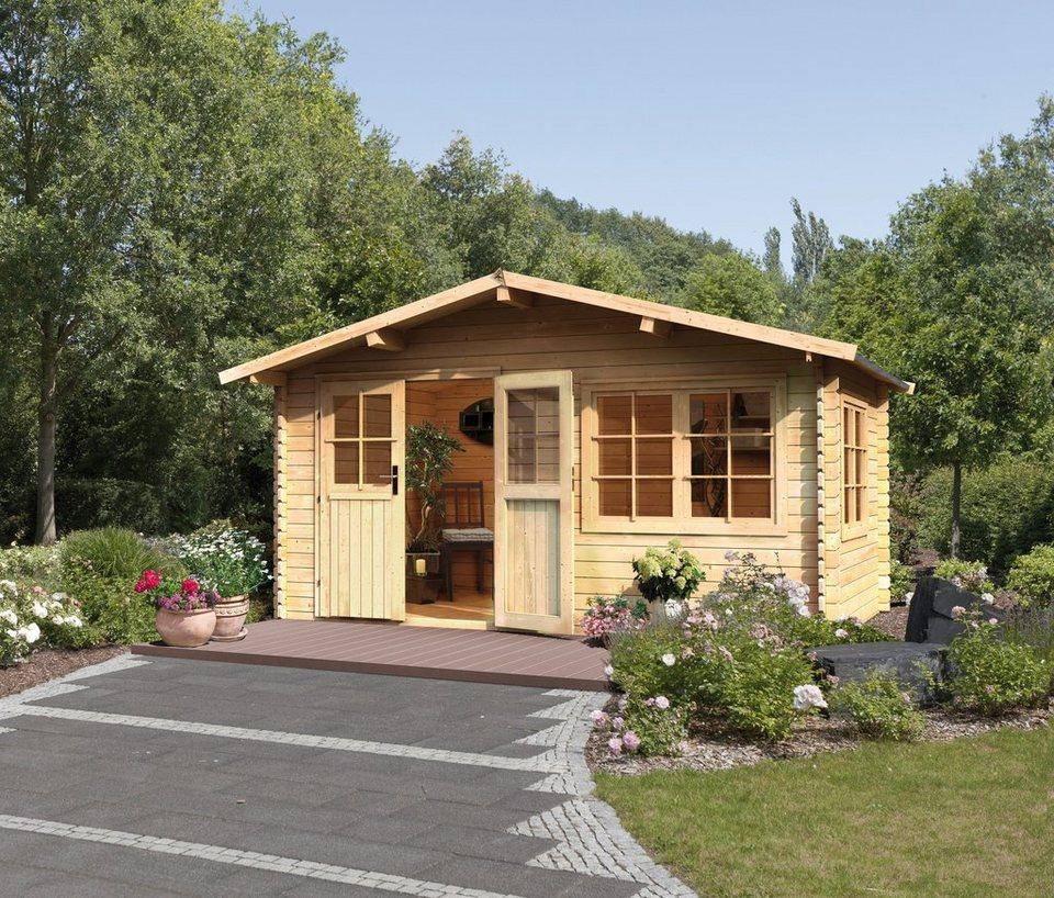 Blockbohlenhaus »Hardenberg 1«, BxT: 370x280 cm in natur