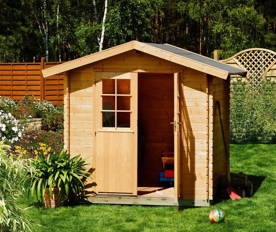 Gartenhaus »Lillevilla 273«, BxT: 210x210 cm in natur