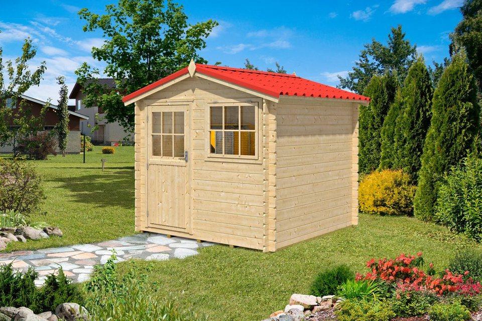 Gartenhaus »Mosel 2«, BxT: 230x230 cm in natur