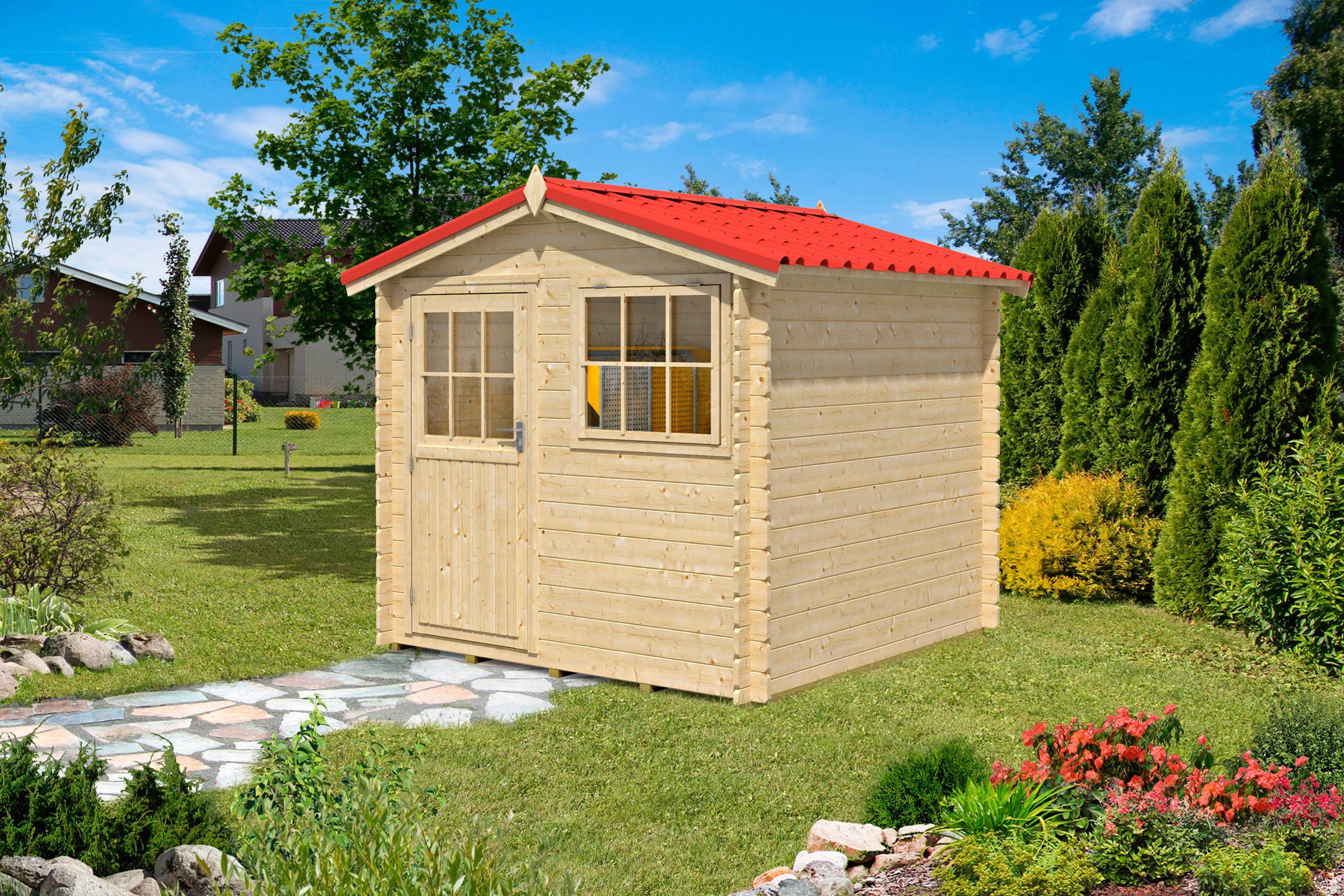 OUTDOOR LIFE PRODUCTS Gartenhaus »Mosel 2«, BxT: 230x230 cm, 28 mm