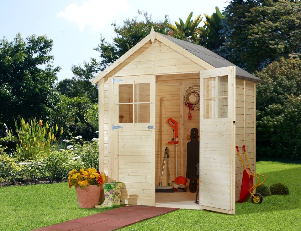 konifera gartenhaus osterbek 1 bxt 181x121 cm 19 mm online kaufen otto. Black Bedroom Furniture Sets. Home Design Ideas