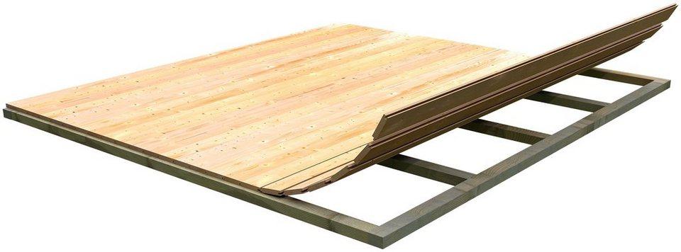 Fußboden für Gartenhäuser, BxT: 220x220 cm in natur