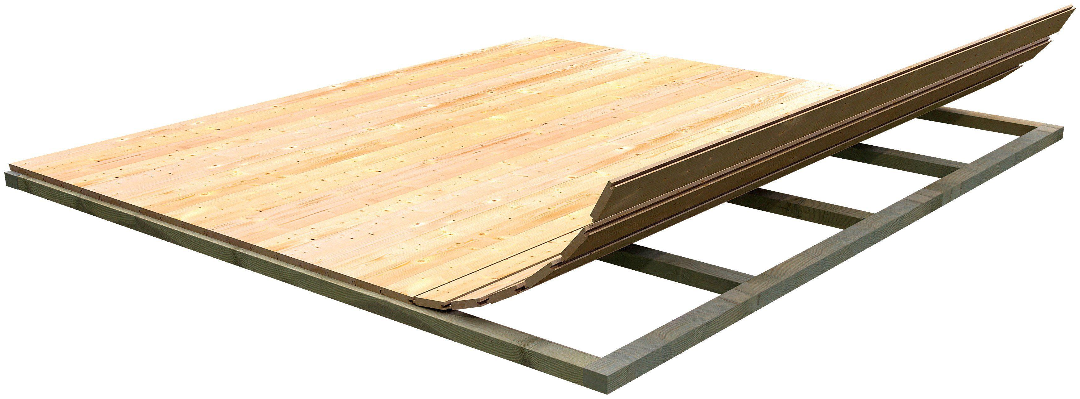Karibu Fußboden für Gartenhäuser, BxT: 220x220 cm
