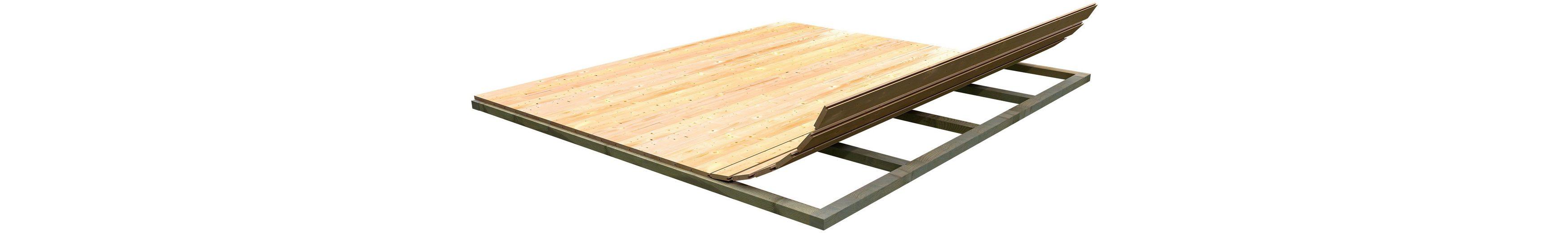 Fußboden für Gartenhäuser, BxT: 220x220 cm