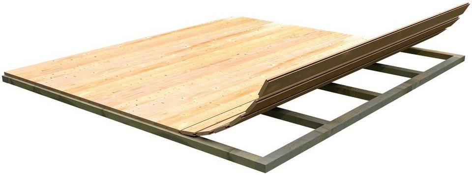 Fußboden für Gartenhäuser, BxT: 310x230 cm in natur