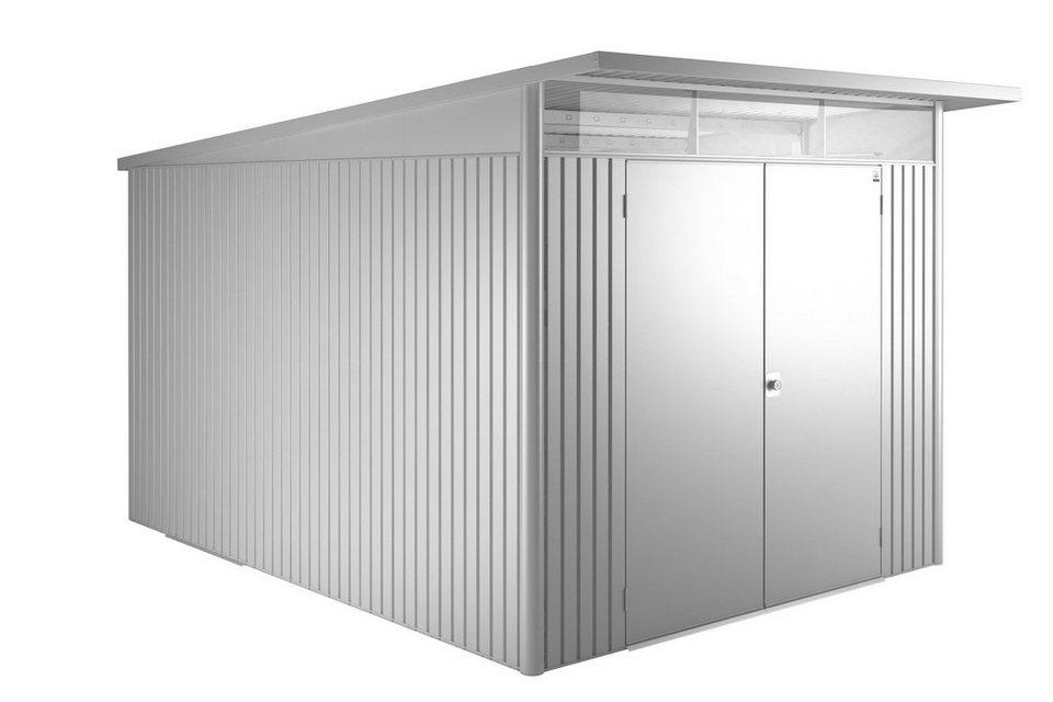 Stahlgerätehaus »AvantGarde XXL« quarzgrau metallic in quarzgrau metallic