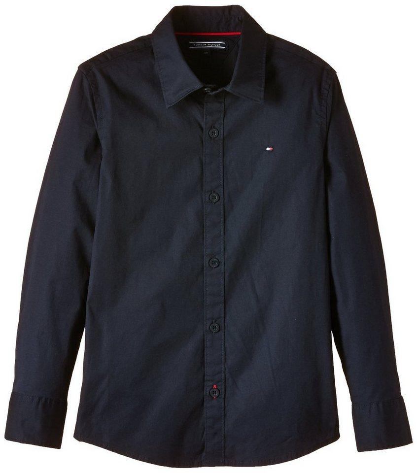 Tommy Hilfiger L/S Shirts / Woven Tops »SOLID POPLIN SLIMFIT SHIRT L/S« in Midnight