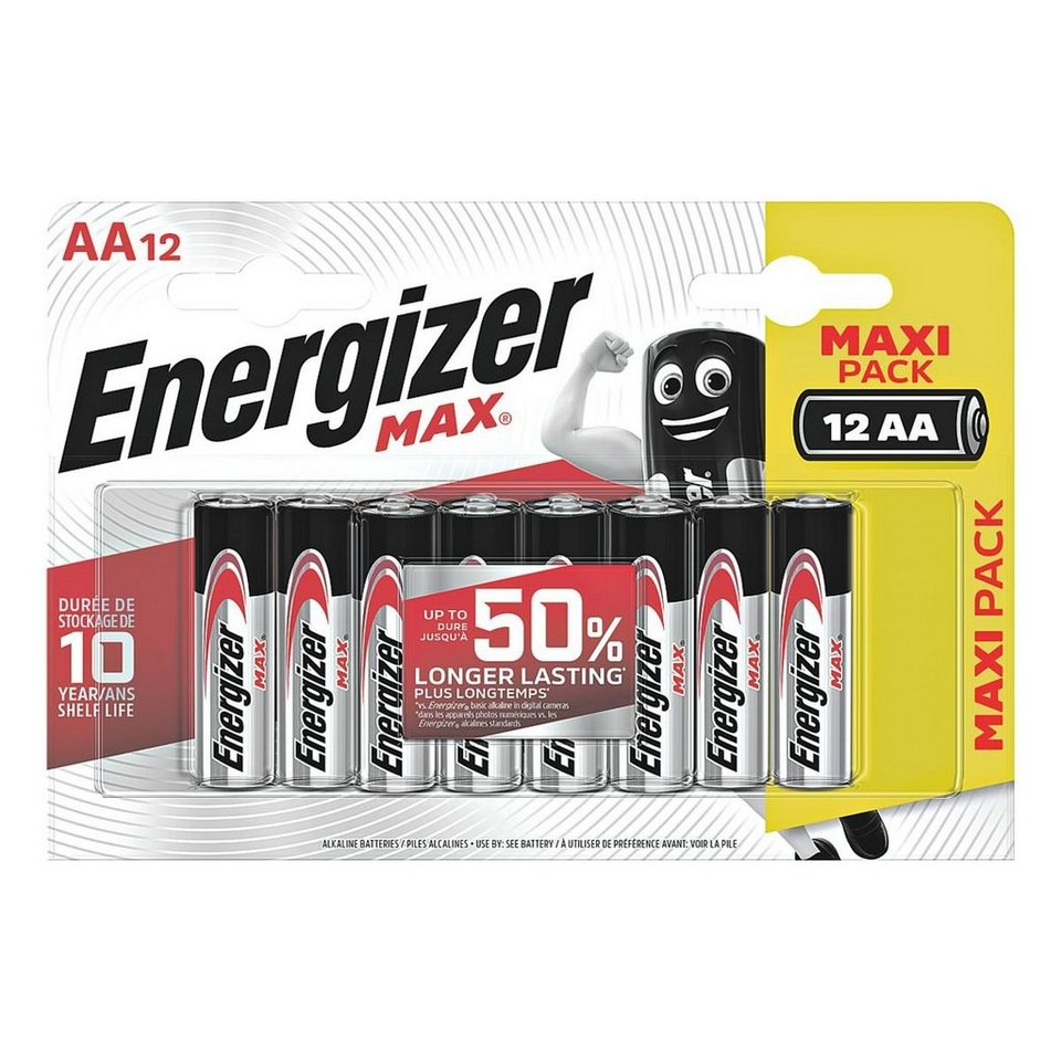 energizer 12er pack batterien mignon aa lr06 max alkaline online kaufen otto. Black Bedroom Furniture Sets. Home Design Ideas