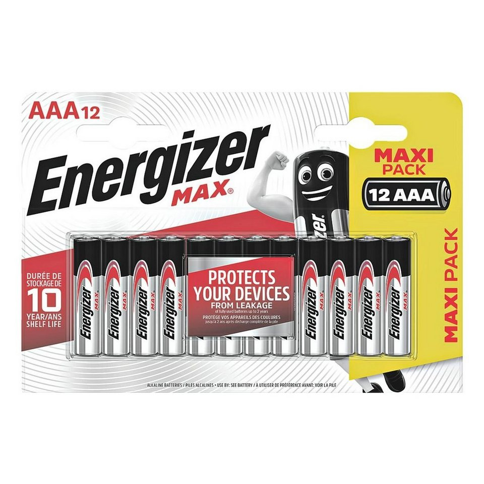 energizer 12er pack batterien micro aaa lr03 max alkaline online kaufen otto. Black Bedroom Furniture Sets. Home Design Ideas