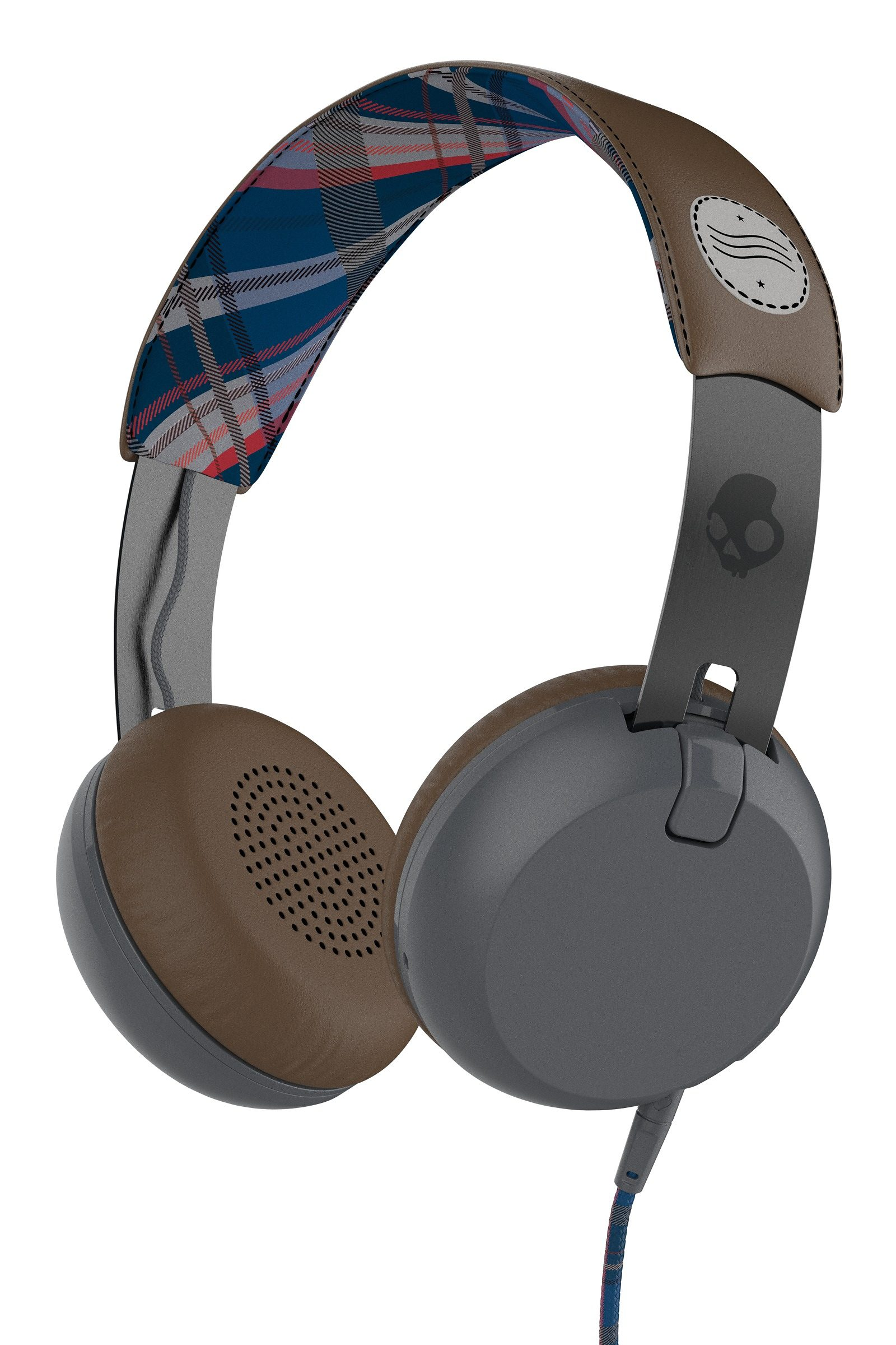 Skullcandy Headset »GRIND ON-EAR W/TAP TECH AMERICANA/PLAID/GRAY«