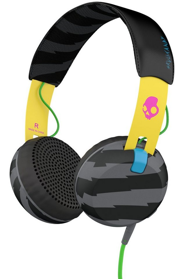 Skullcandy Headset »GRIND ON-EAR W/TAP TECH LOCALS ONLY/YELLOW/BLACK« in mehrfarbig