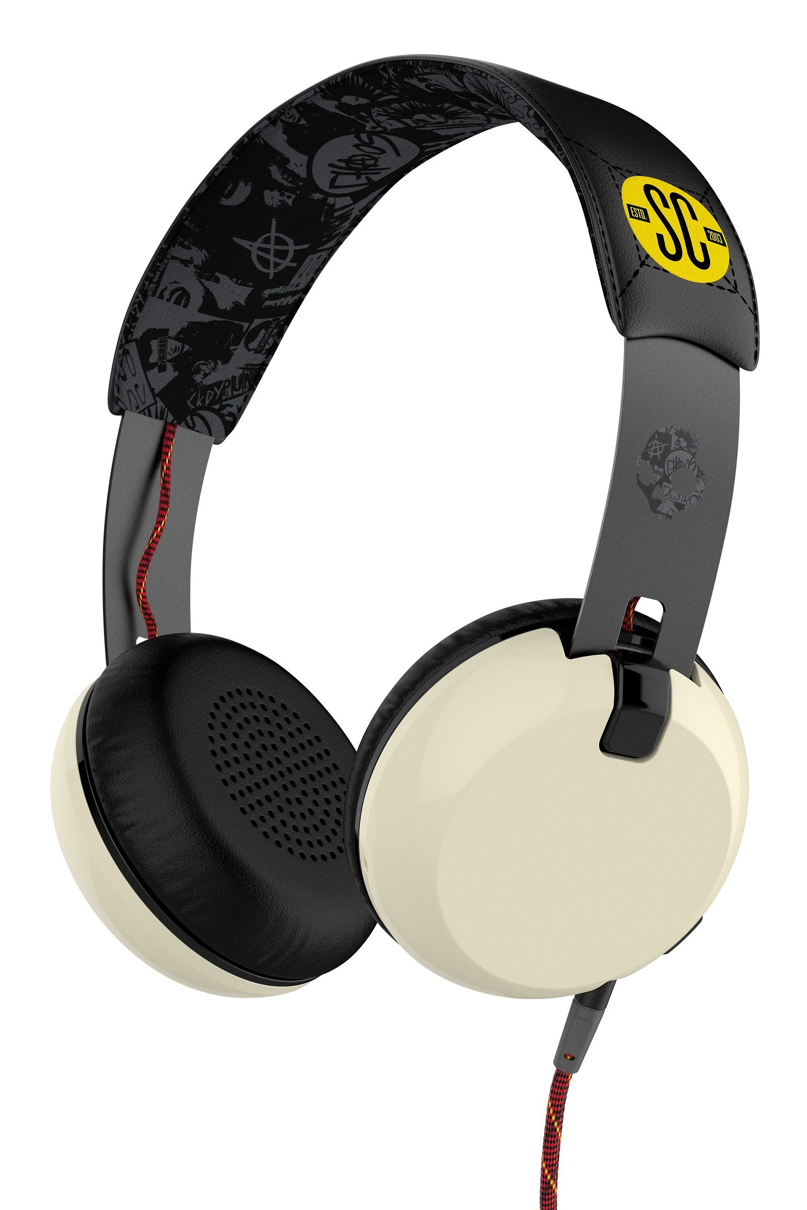 Skullcandy Headset »GRIND ON-EAR W/TAP TECH ATG/BLACK/CREAM«