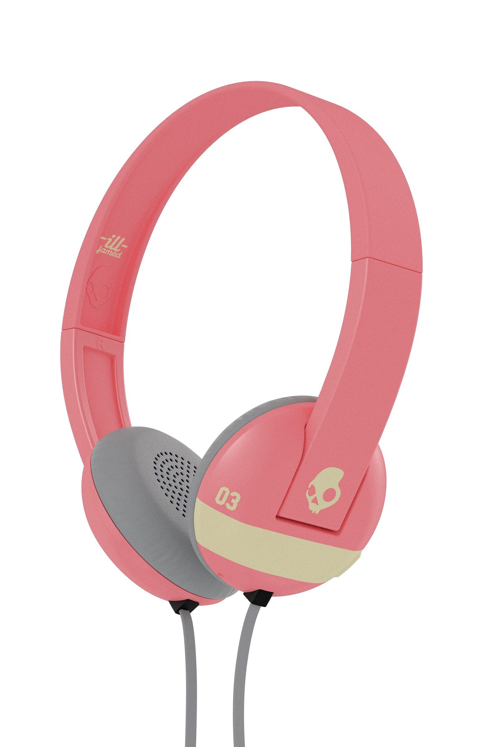 Skullcandy Headset »UPROAR ON-EAR W/TAP TECH ILL FAMED/CORAL/CREAM«