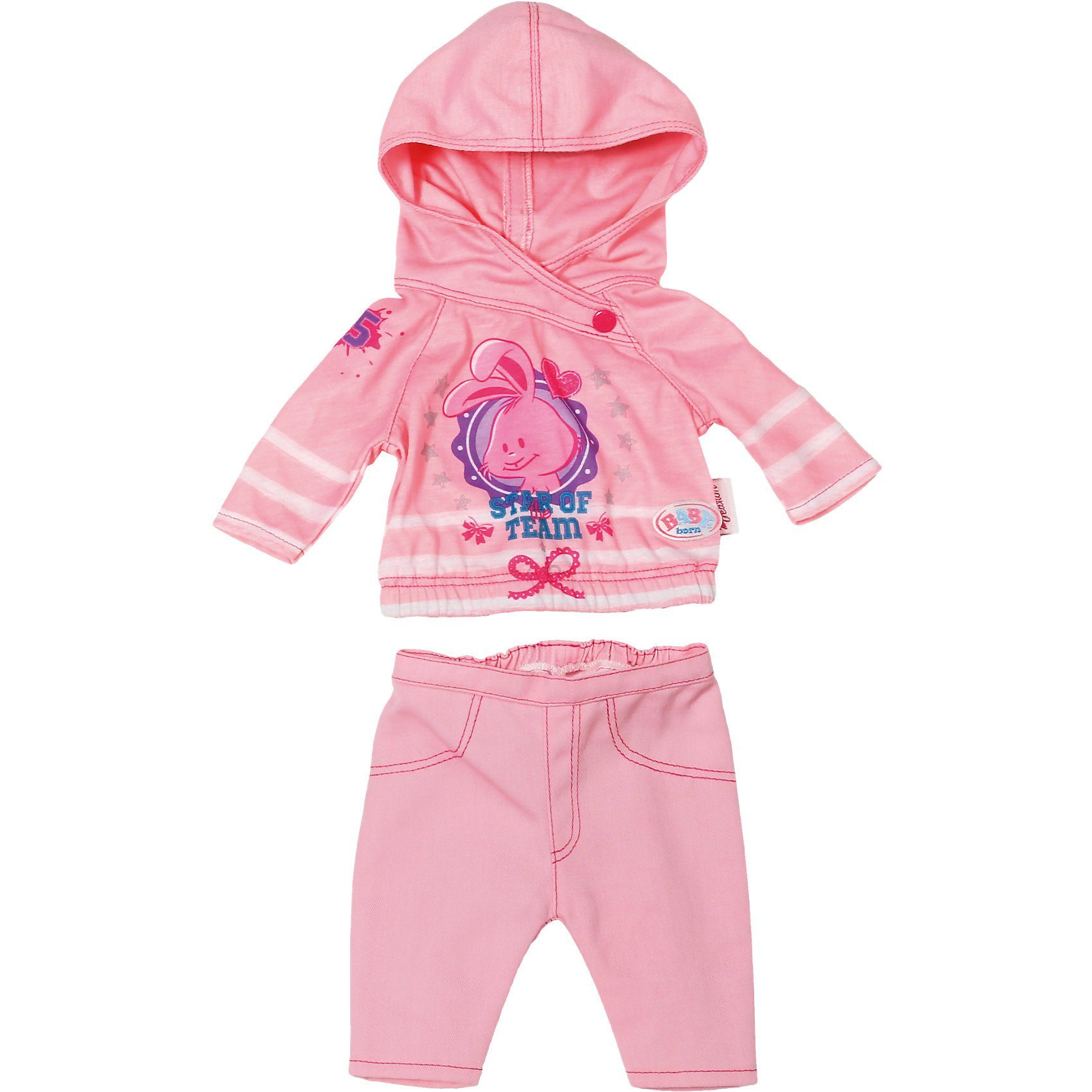 Zapf Creation BABY born® Puppenkleidung Freizeit Kollektion Rosa, 43 cm