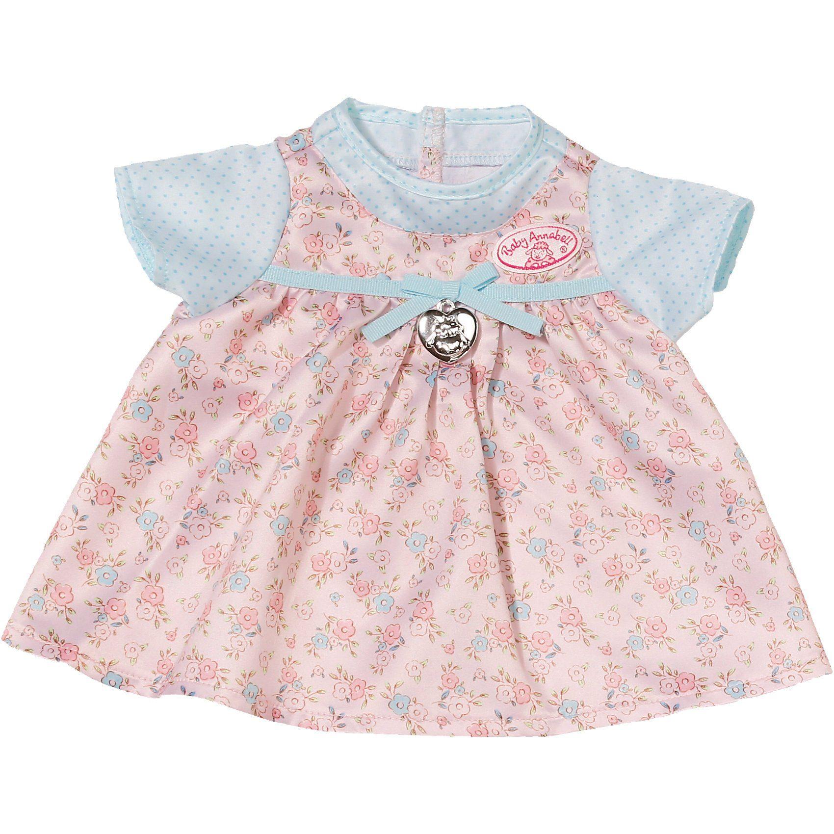 Zapf Creation Baby Annabell® Puppenkleidung Kleid mit blauen Ärmeln, 43 cm