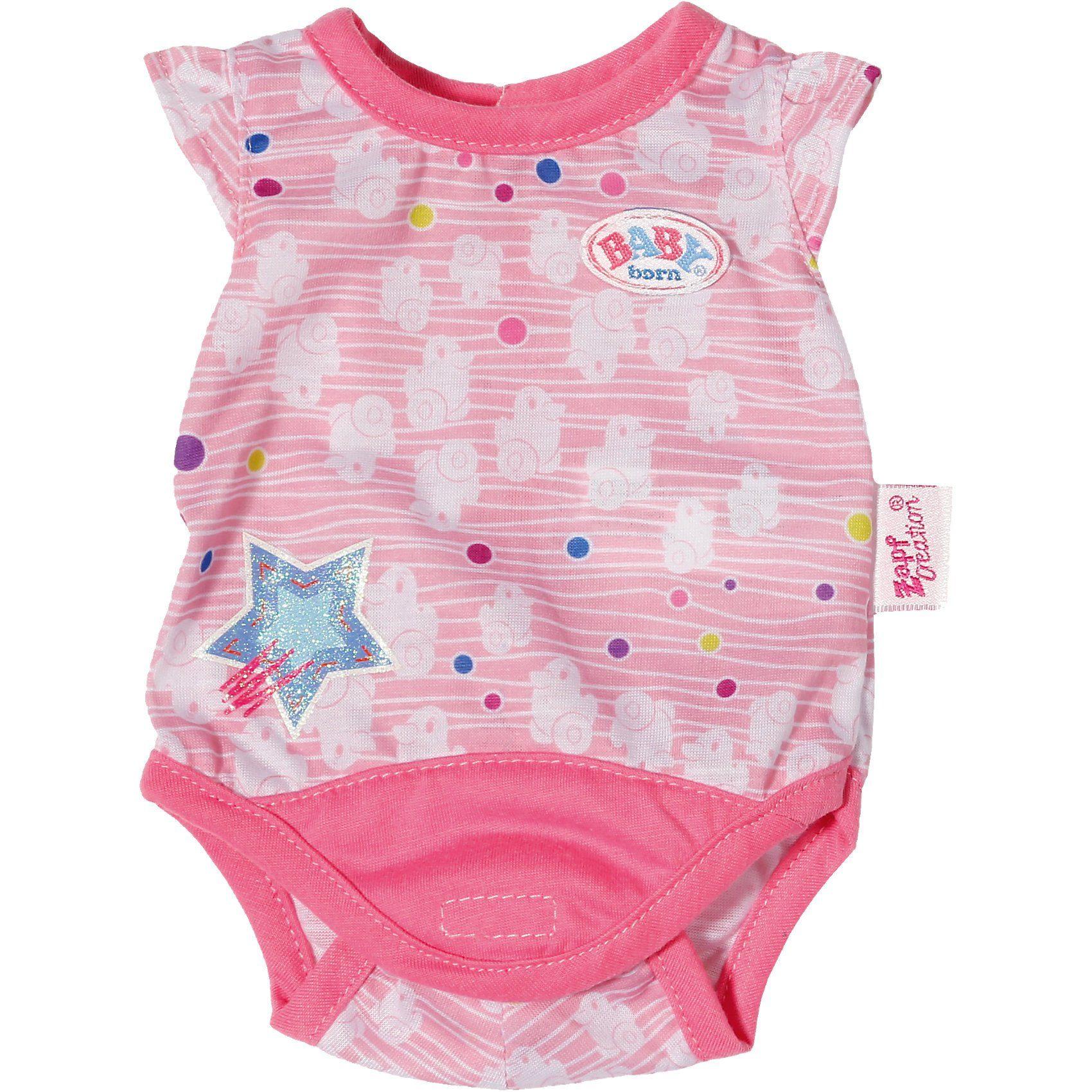 Zapf Creation BABY born® Puppenkleidung Body Kollektion rosa, 43 cm
