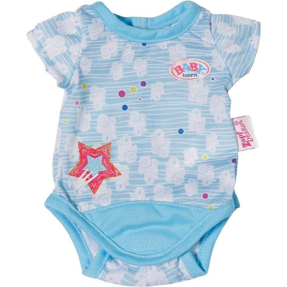Zapf Creation BABY born® Puppenkleidung Body Kollektion blau, 43cm