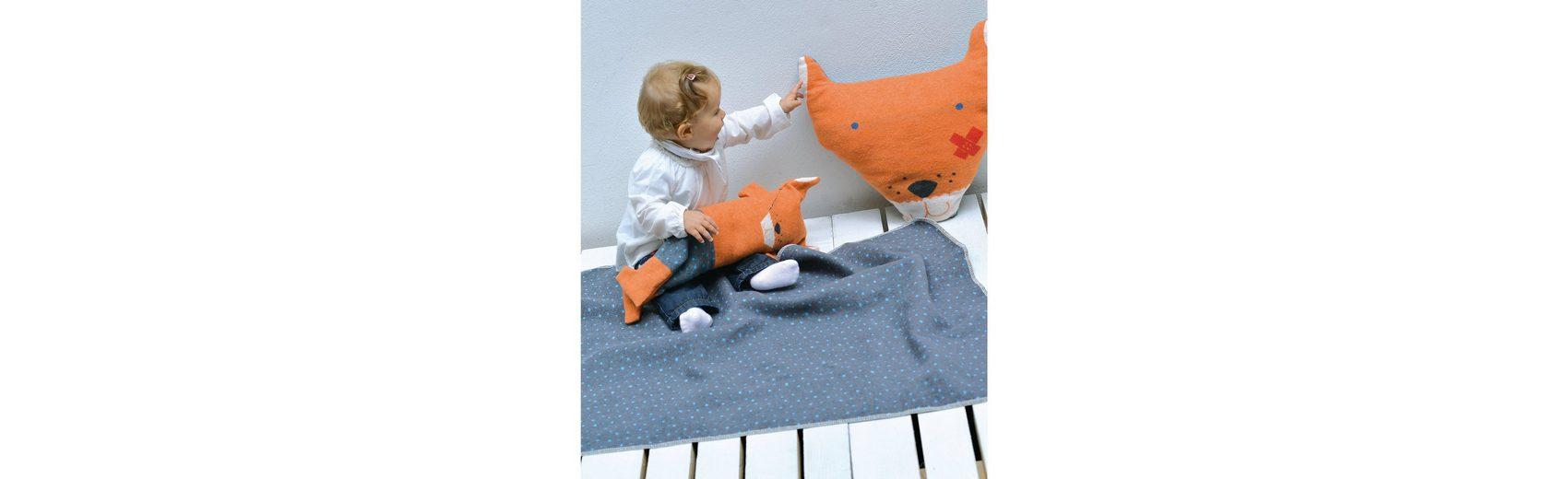 David Fussenegger Babydecke Juwel Fuchs, Decke in Puppe, 70 x 90 cm