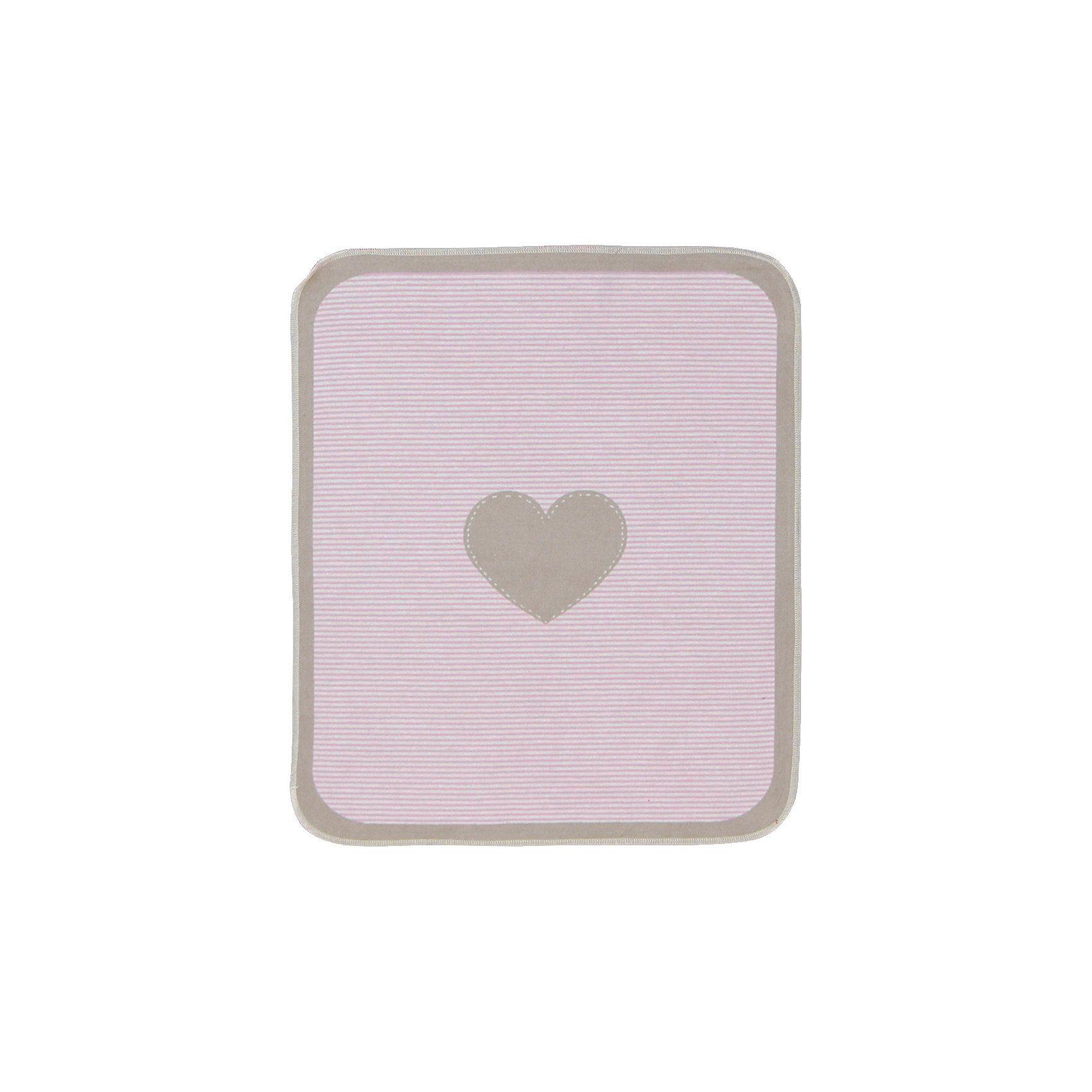 David Fussenegger Babydecke Juwel Herzchen, pink, 70 x 90 cm
