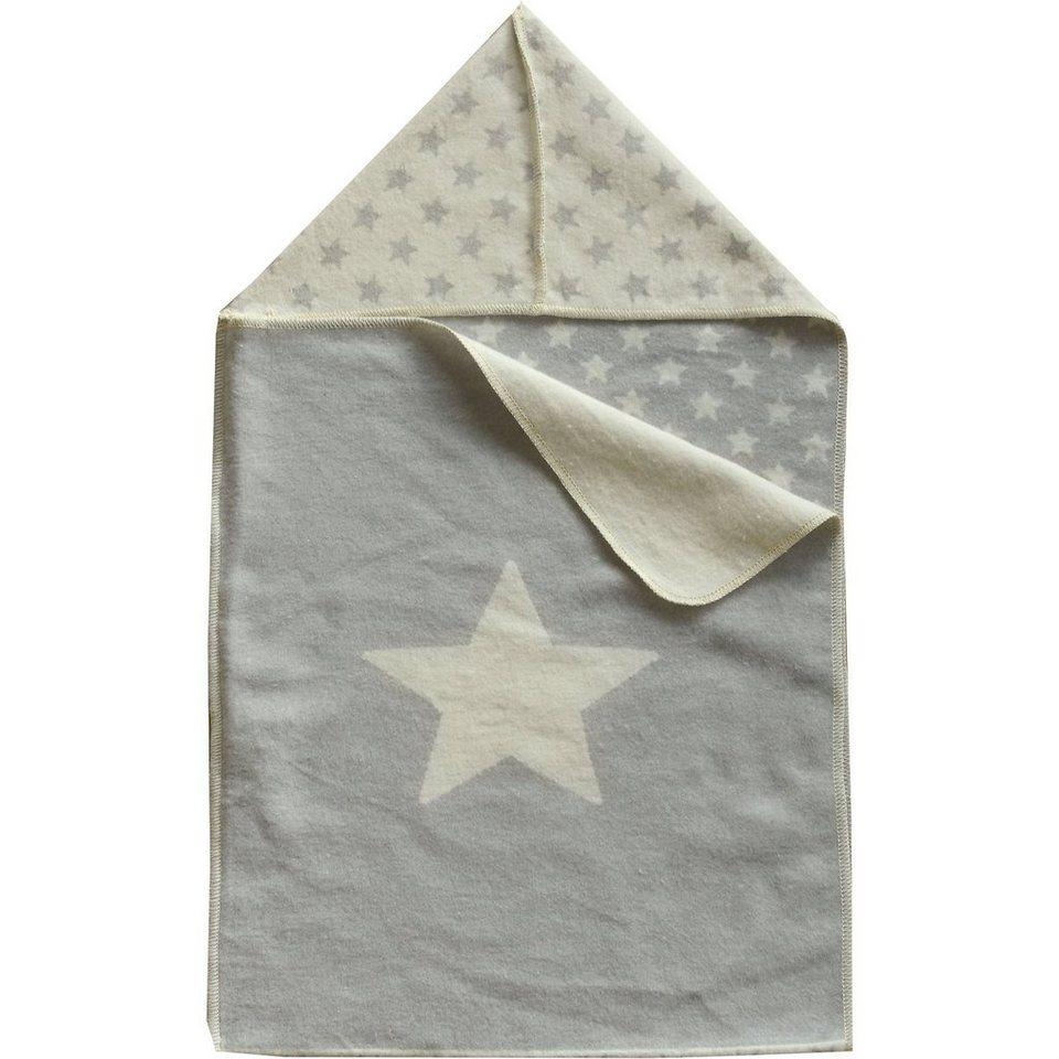 David Fussenegger Einschlagdecke Sterne, zum pucken, 45 x 76 cm, grau in grau