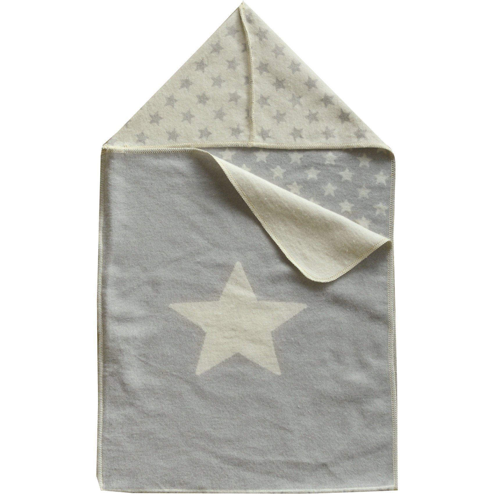 David Fussenegger Einschlagdecke Sterne, zum pucken, 45 x 76 cm, grau