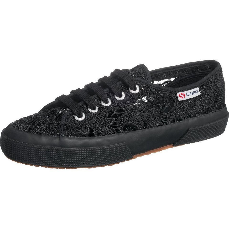 Superga® 2750-Macramew Sneakers in schwarz-kombi