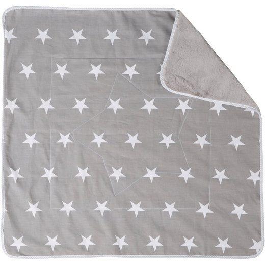 Roba® Babydecke Little Star, grau, 80 x 80 cm