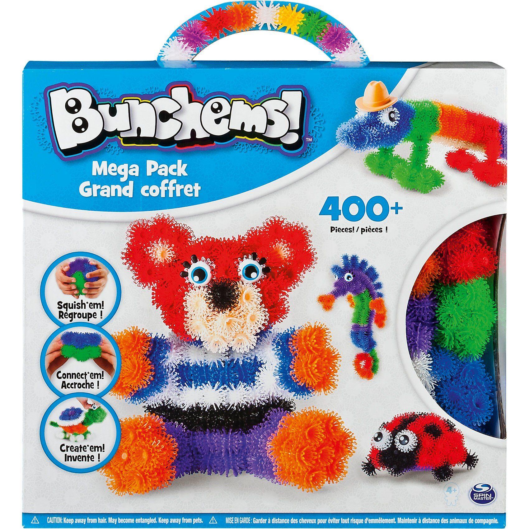 Spin Master 370-tlg. Klett-Figuren Set Bunchems Mega Pack