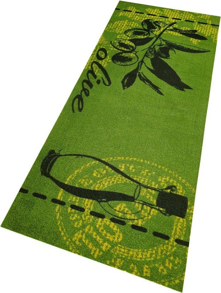 Küchenläufer, Zala Living, »Olive«, waschbar, getuftet in grün