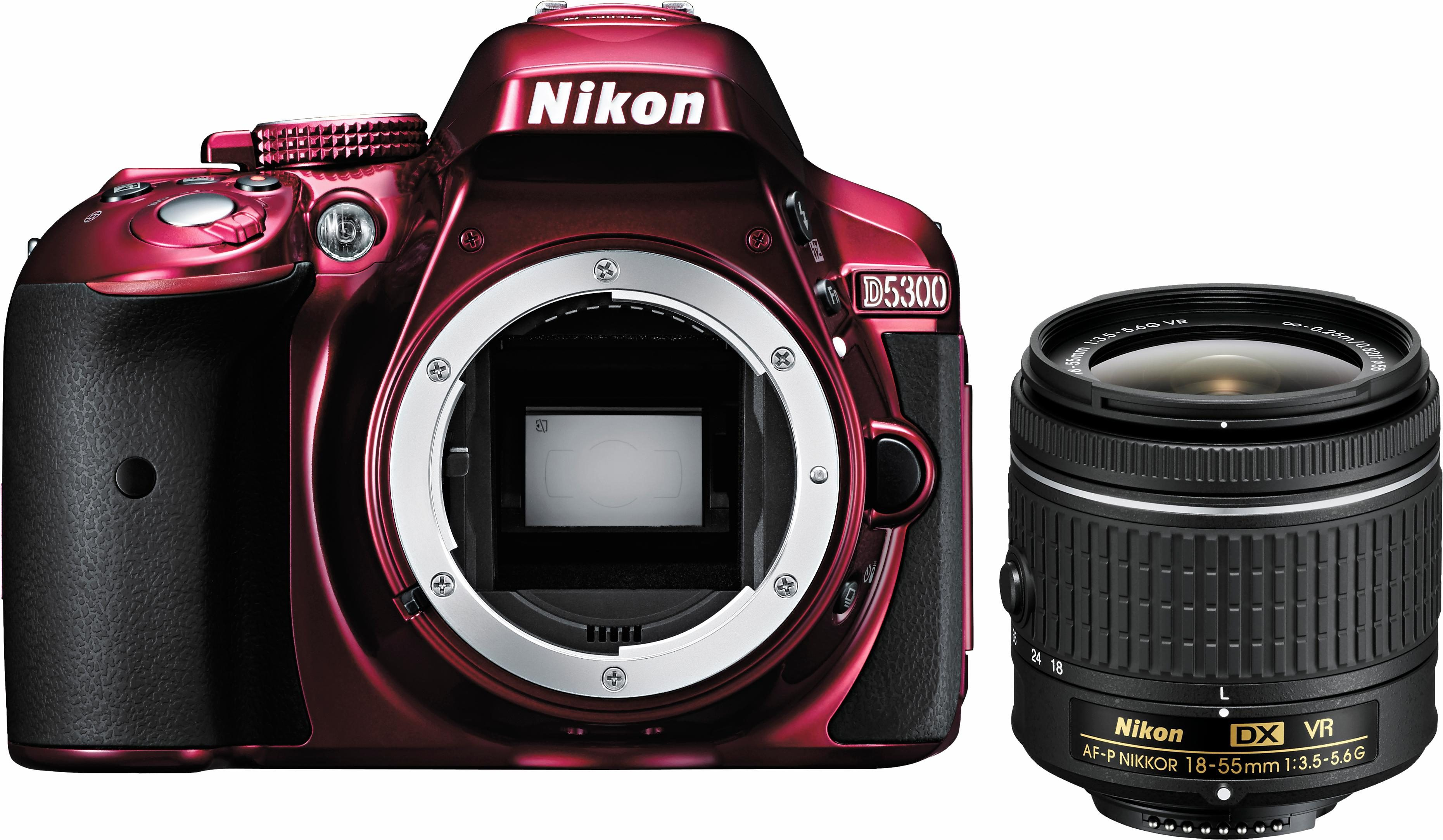 Nikon D5300 Kit AF-P 18-55 VR Spiegelreflex Kamera, NIKKOR AF-P 18-55 mm VR Zoom, 24,2 Megapixel