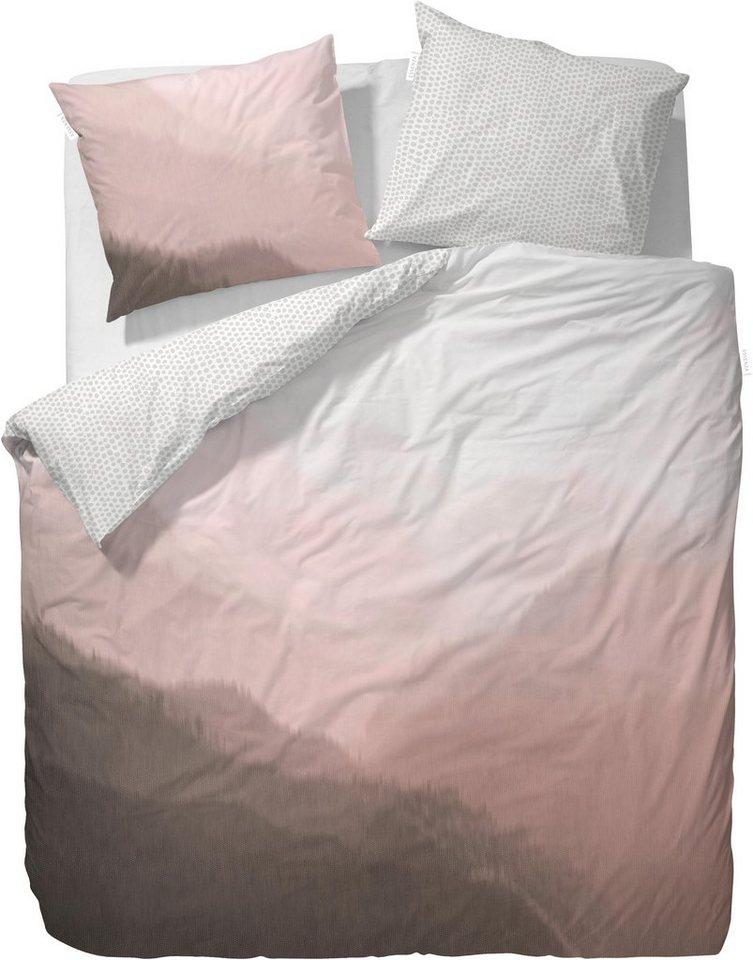Wendebettwäsche, Essenza, »Ximen«, mit Farbverlauf in rosé
