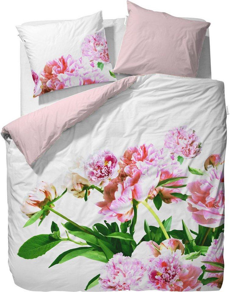 Wendebettwäsche, Essenza, »Karin«, mit großen Blüten in rosa