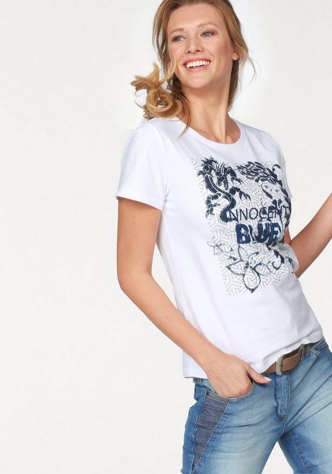 Cheer T-Shirt mit coolem Druckmotiv in weiß-marine-blau-grau-bedruckt