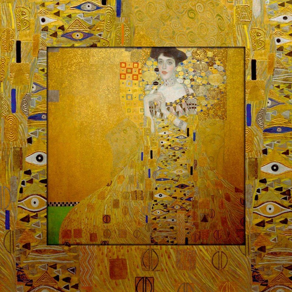 Home affaire Bild, Kunstdruck »G. Klimt: Bloch-Bauer«, 50,4/50,4 cm in Gelb