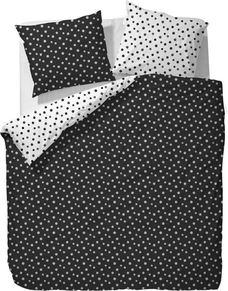 Wendebettwäsche, Essenza, »Lanae«, mit Tintenklecks-Optik in schwarz-weiß
