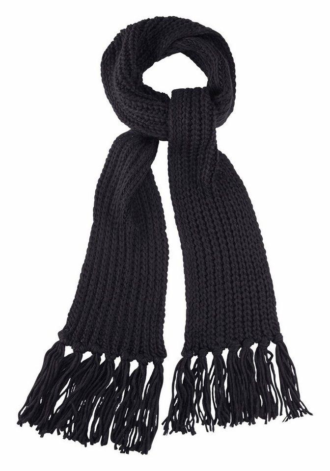J. Jayz Strickschal mit langen Fransen in schwarz