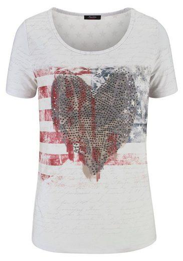 Tamaris T-Shirt, mit Steinchen-Verzierung