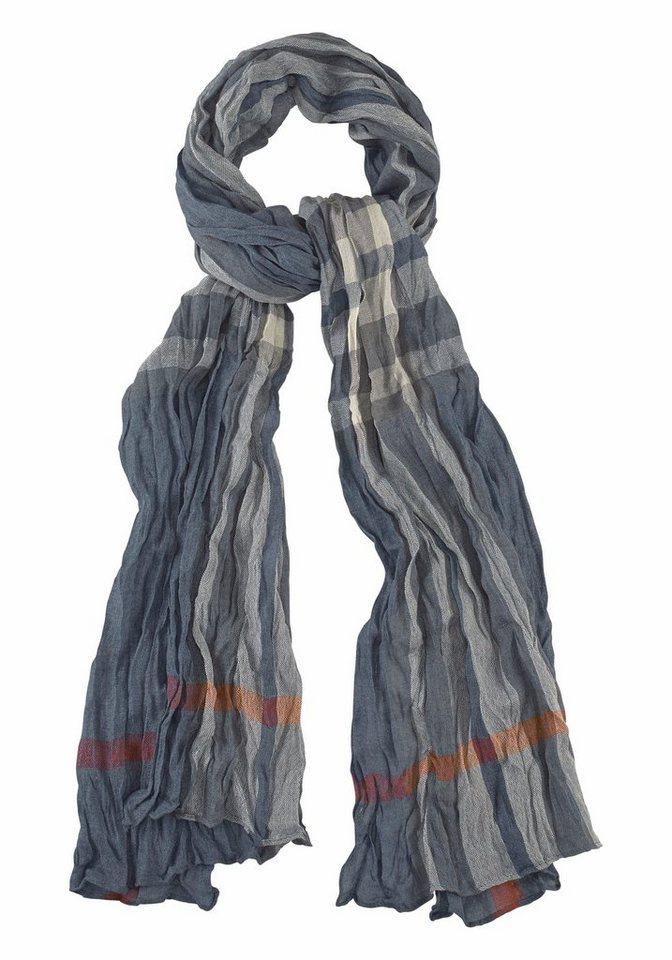 Passigatti Modeschal mit Streifen in blau