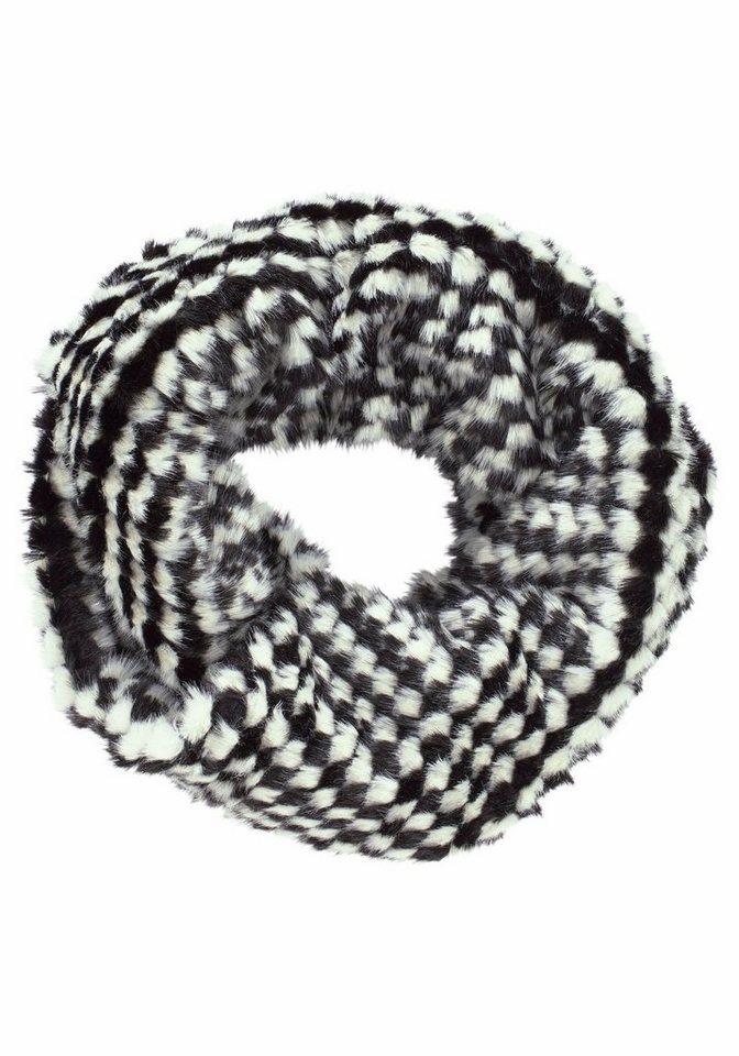 J. Jayz Loop »Fake Fur« in schwarz-weiß