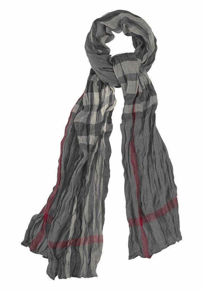 Passigatti Modeschal mit Streifen in grau