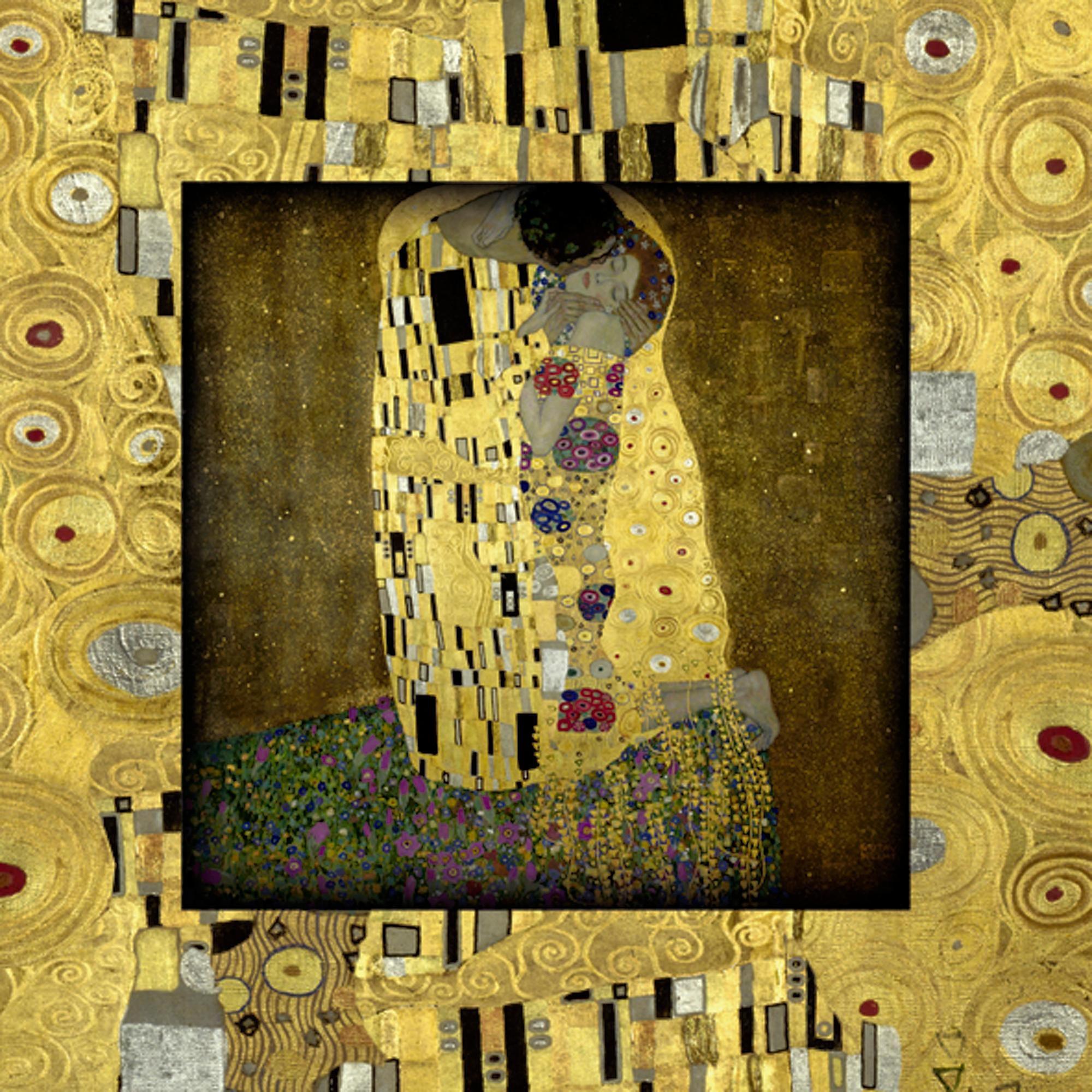 Home affaire Bild, Kunstdruck »G. Klimt: Der Kuß«, 50,4/50,4 cm