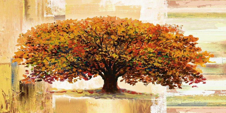home affaire glasbild a s herbstbaum auf abstraktem hintergrund 100 50 cm online kaufen otto. Black Bedroom Furniture Sets. Home Design Ideas