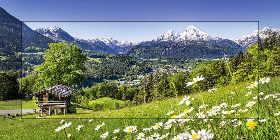 Home affaire, Kunstdruck »JFL Photography: Landschaft in den Bayerischen Alpen«, 101,4/51,4 cm in Grün