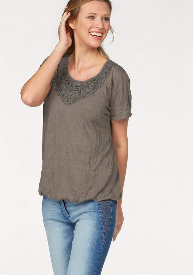 Cheer T-Shirt in taupe