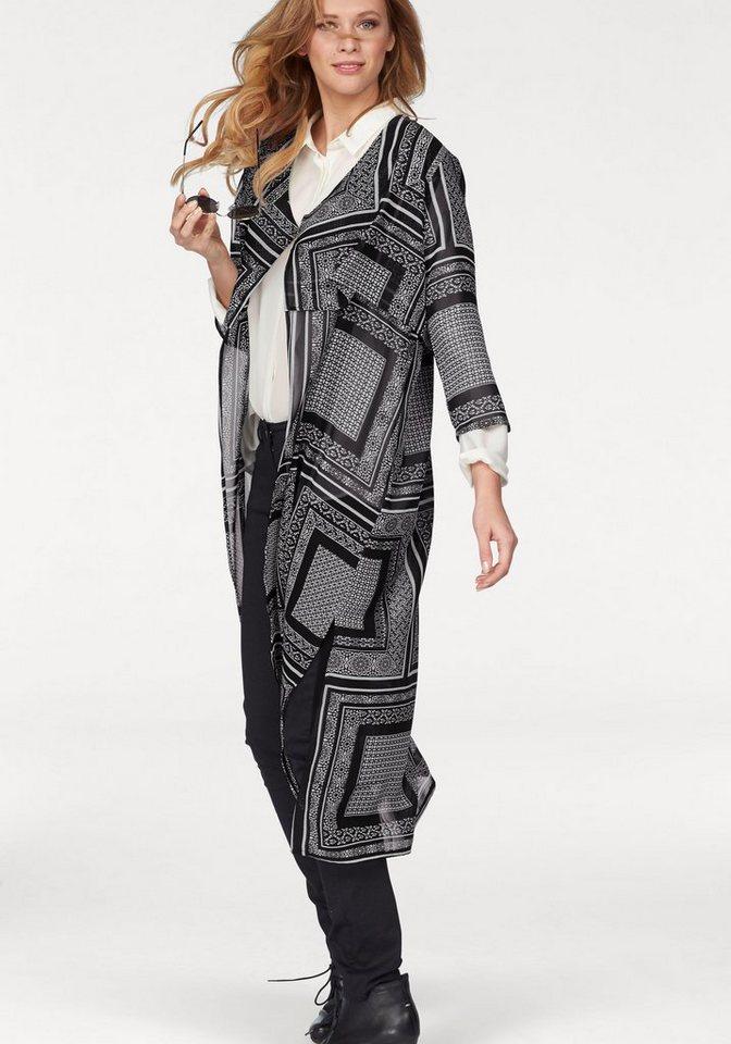 Tamaris Chiffonbluse in schwarz-weiß-bedruckt